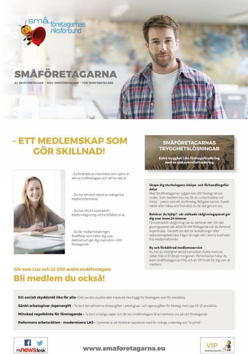 Annons småföretagarna Expressen 160202