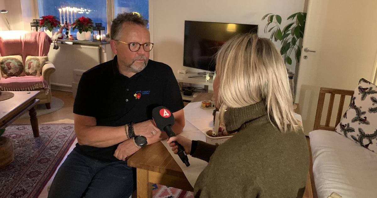 Småföretagarnas Riksförbund, styrelseledamot, Mats Eriksson bevakas av TV4